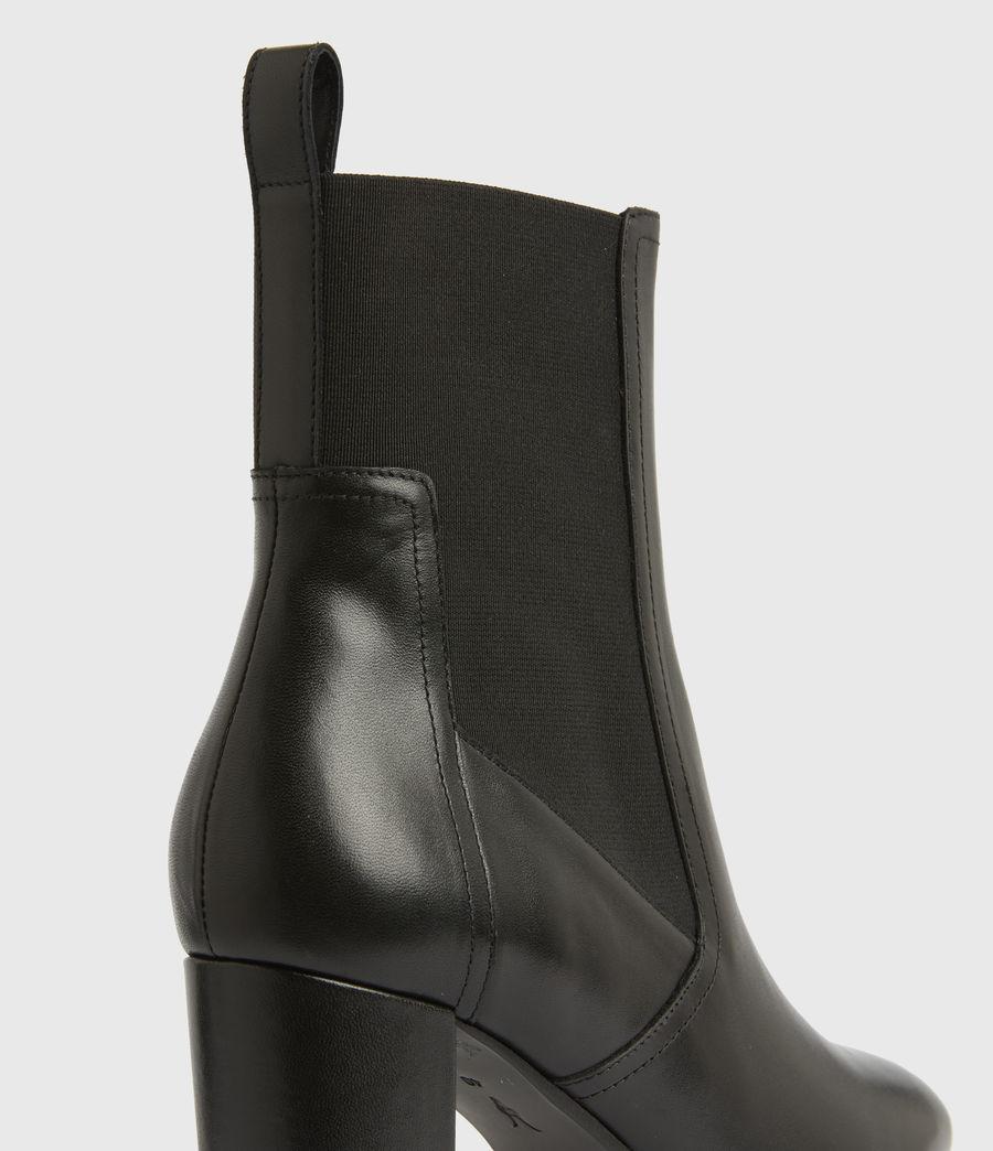 Women's Sahara Leather Boots (black) - Image 3