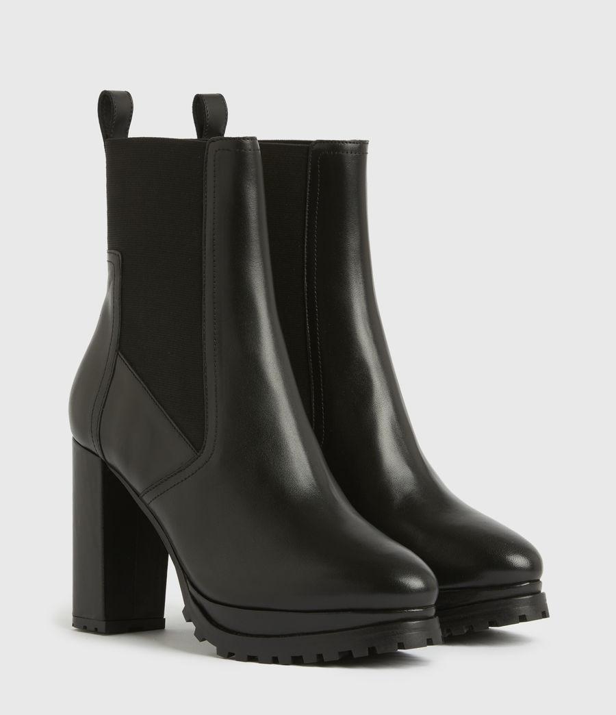 Women's Sahara Leather Boots (black) - Image 4