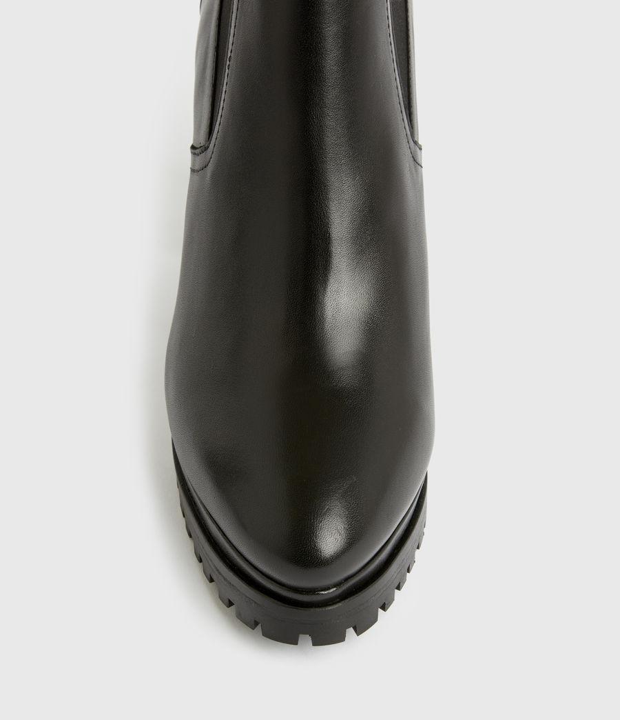 Women's Sahara Leather Boots (black) - Image 5
