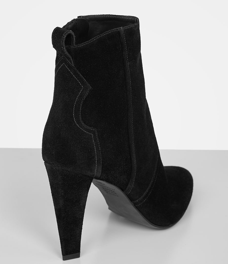 Women's Madlyn Suede Boot (black) - Image 3
