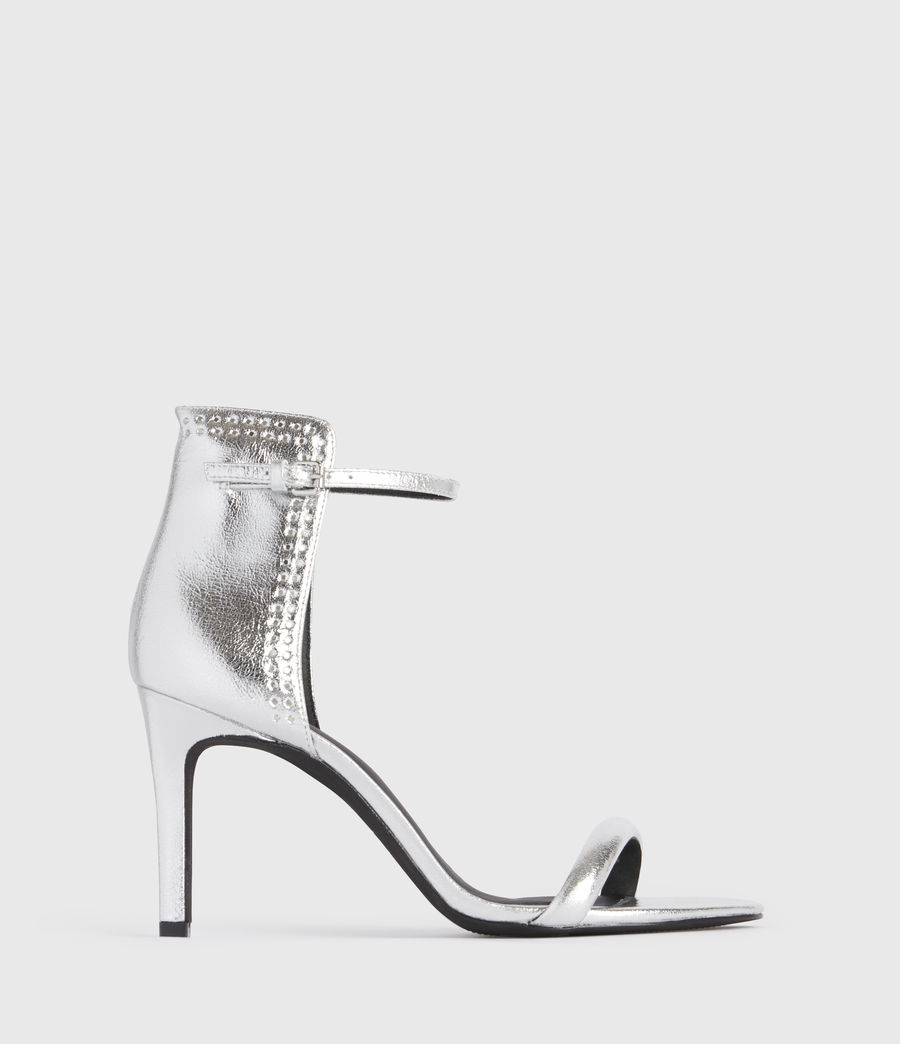 Mujer Avia Leather Sandals (silver) - Image 1