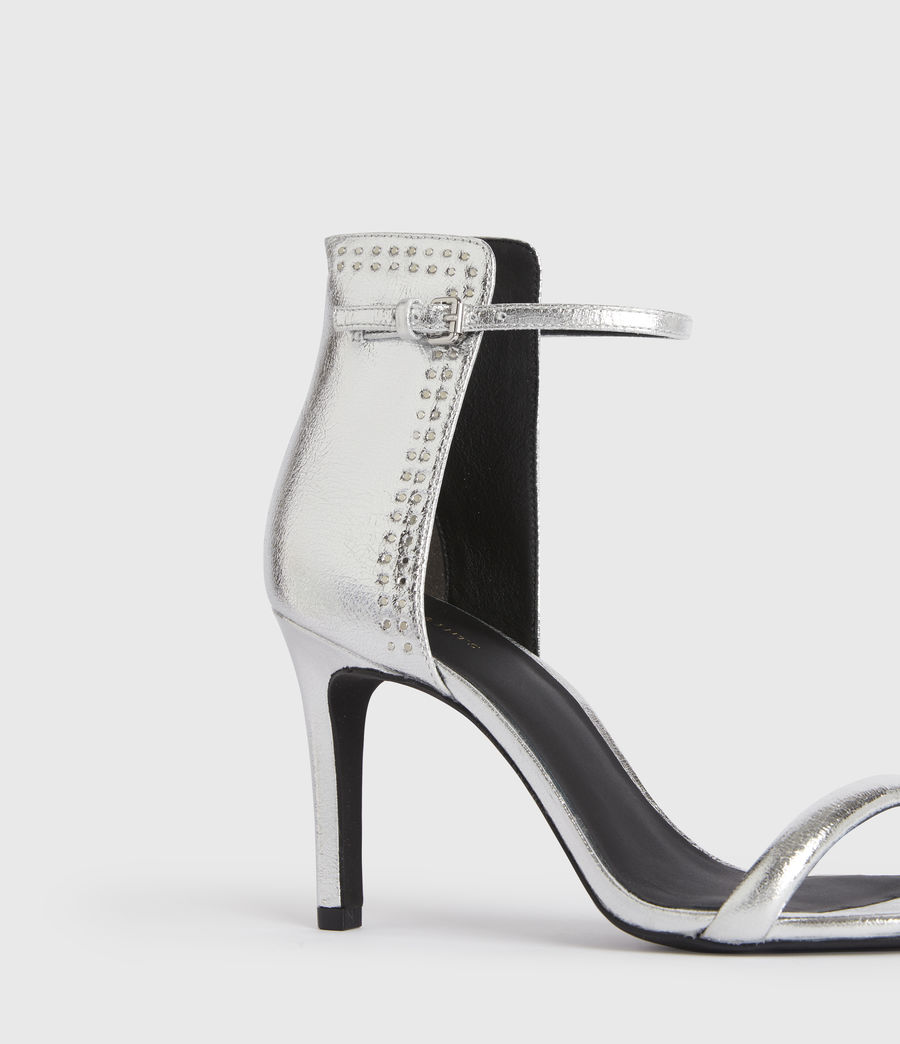 Mujer Avia Leather Sandals (silver) - Image 2