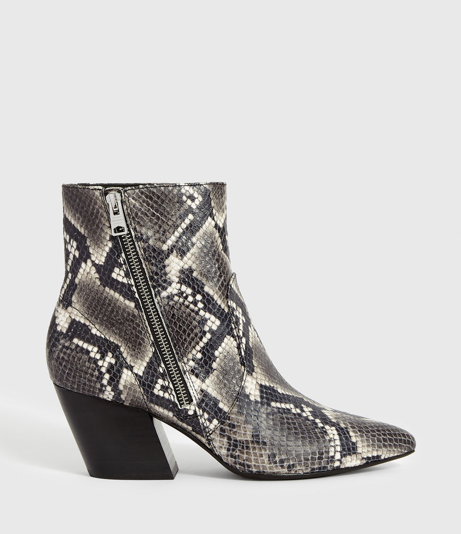 Women's Aster Snake Boot (black_white_snake) - Image 1
