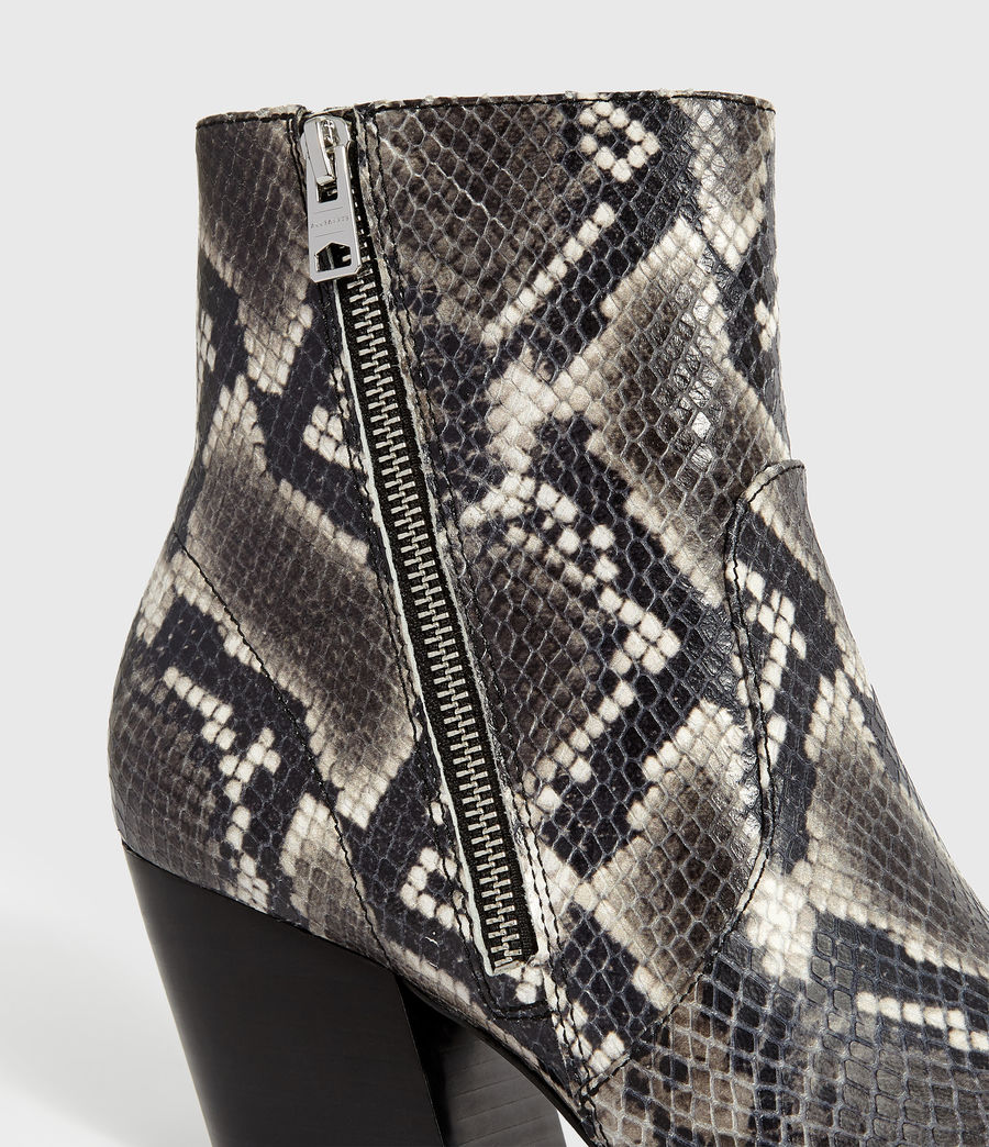 Womens Aster Snake Boot (black_white_snake) - Image 2