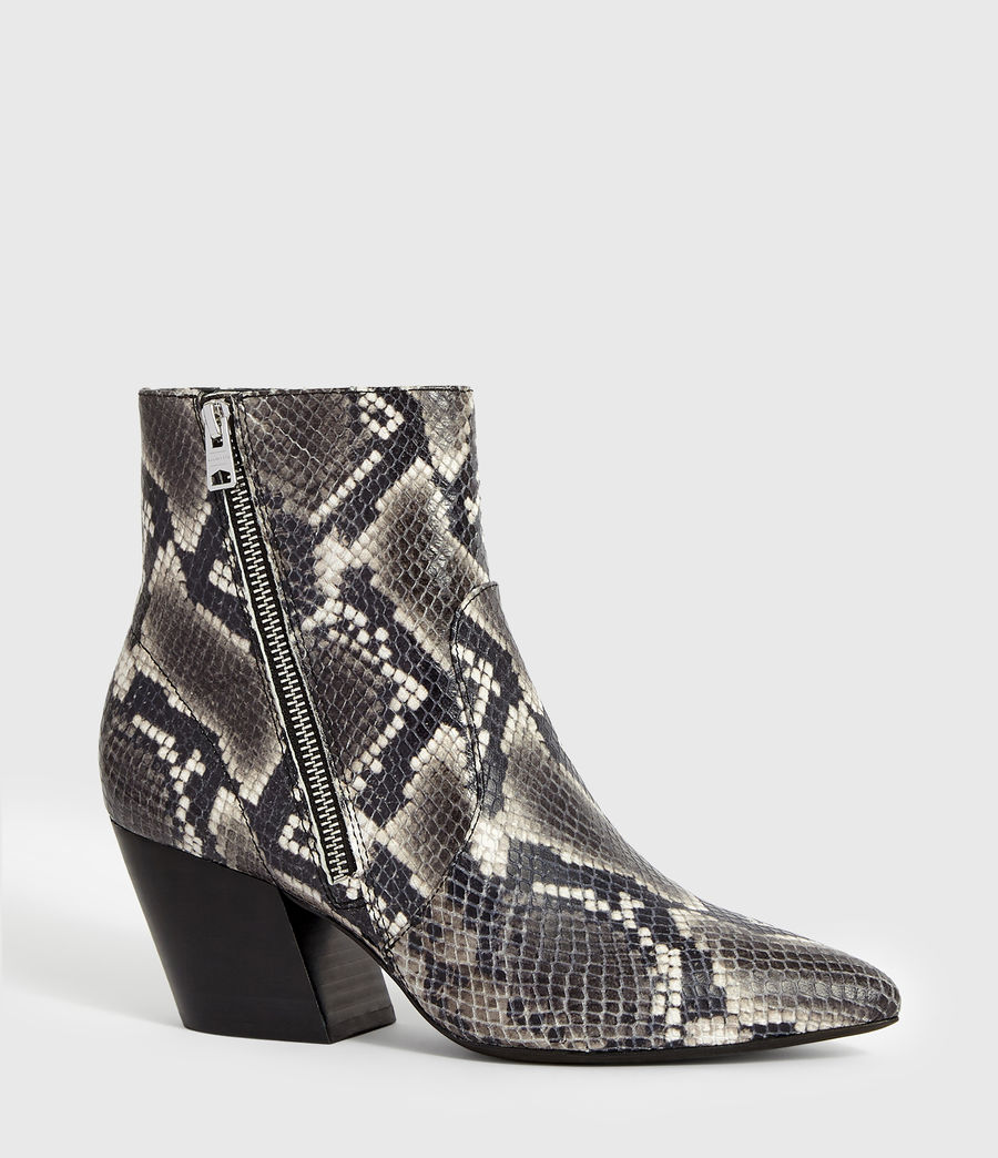Womens Aster Snake Boot (black_white_snake) - Image 3