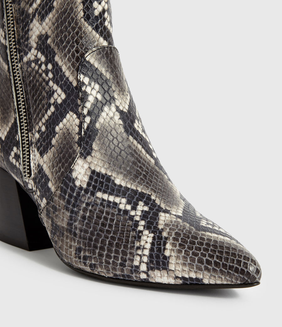Women's Aster Snake Boot (black_white_snake) - Image 4