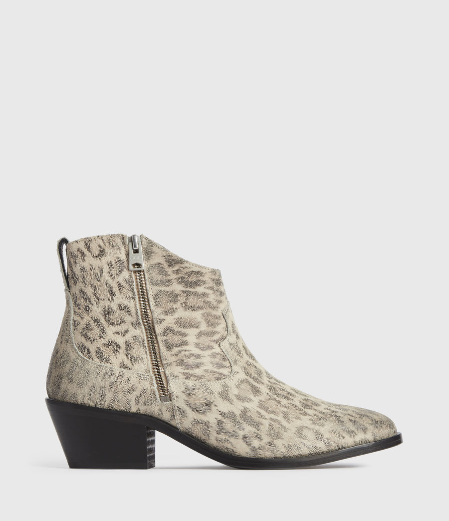 Women's Carlotta Leather Boots (leopard) - Image 1