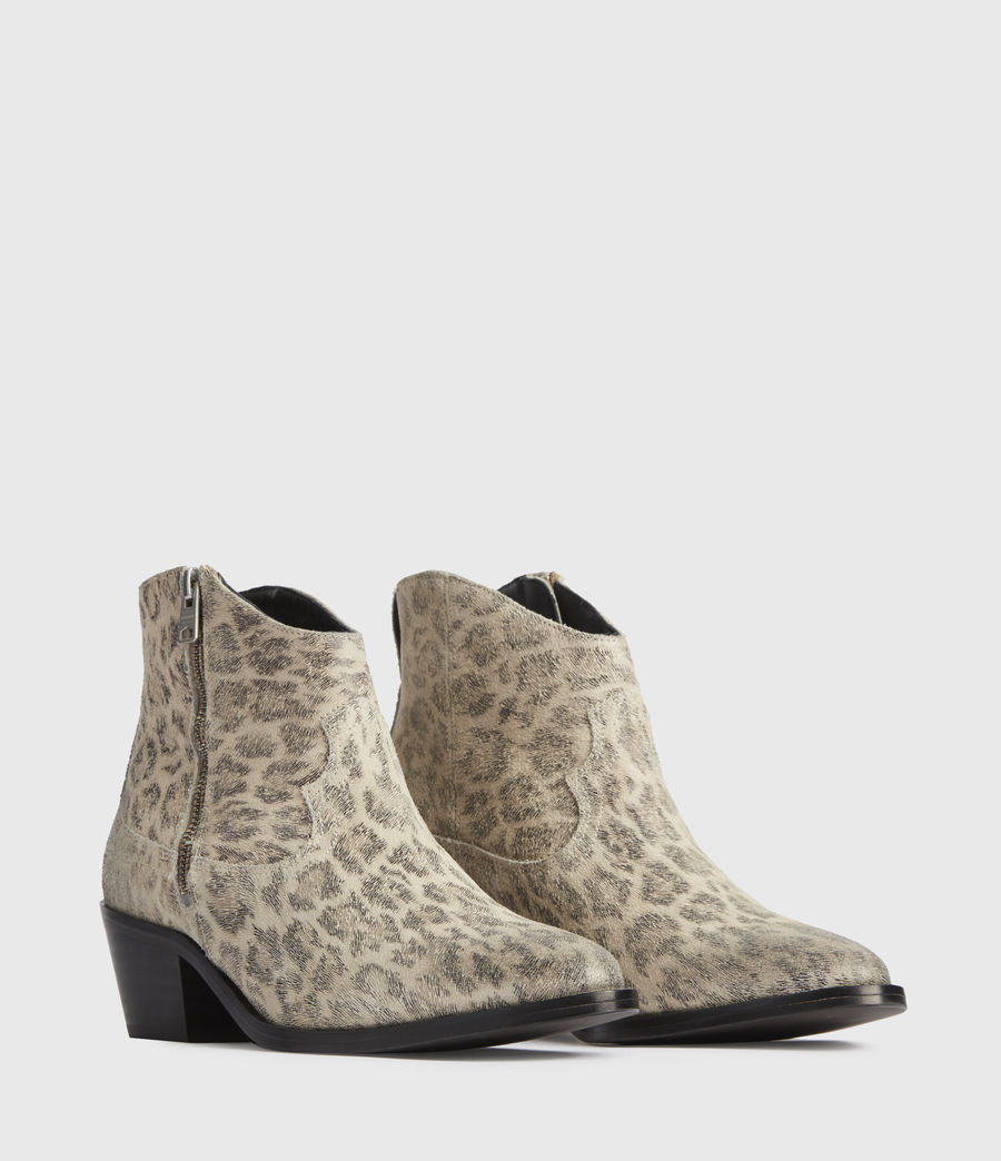 Women's Carlotta Leather Boots (leopard) - Image 3