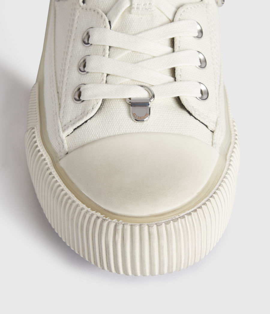 Women's Jazmin Canvas Low Top Trainers (off_white) - Image 4