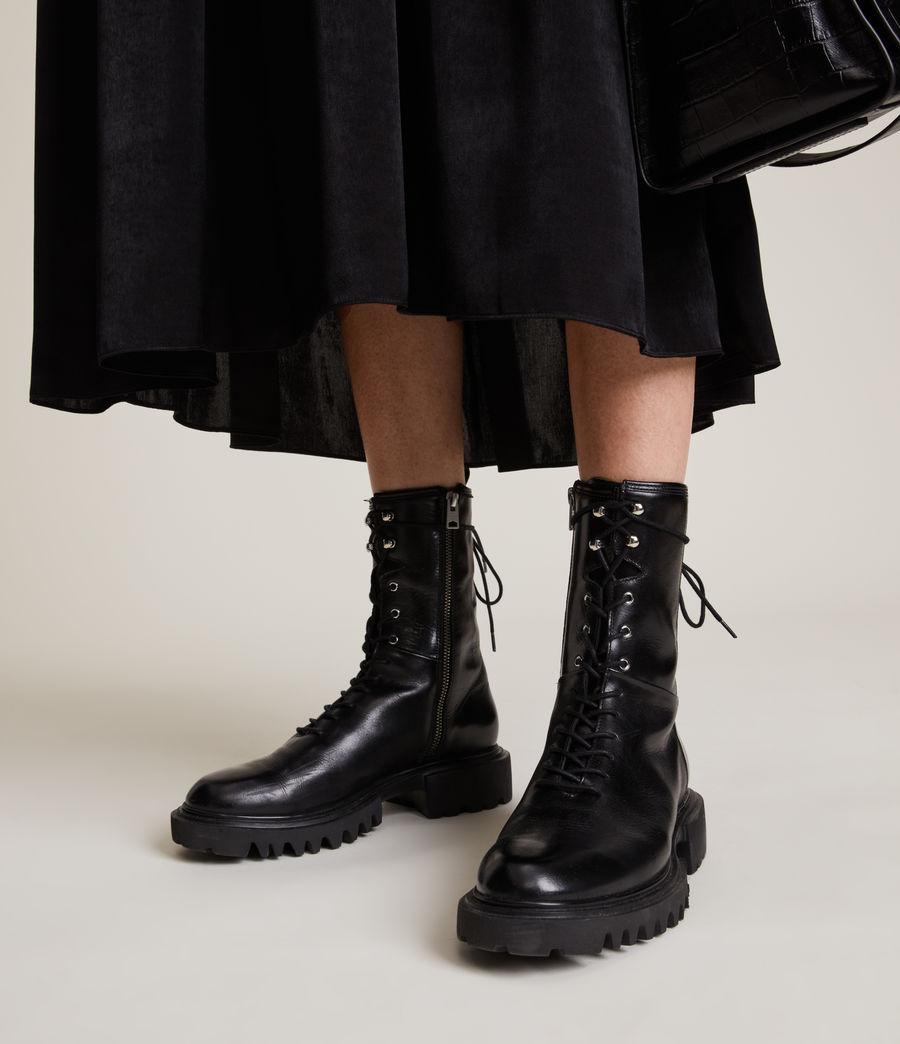 Women's Maren Leather Boots (black) - Image 2