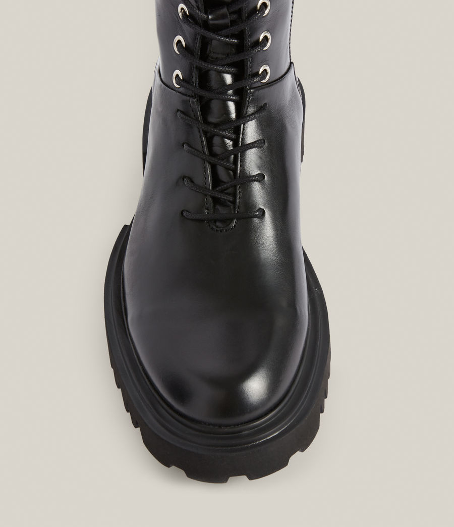 Women's Maren Leather Boots (black) - Image 3