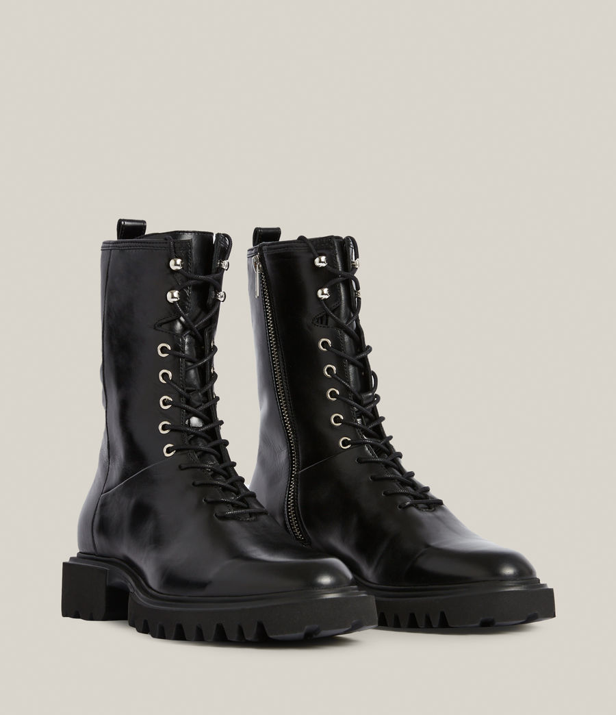 Women's Maren Leather Boots (black) - Image 4
