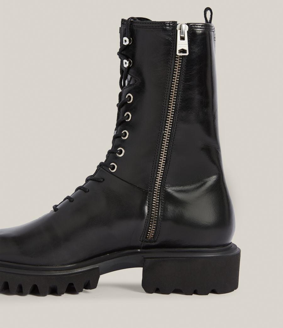 Women's Maren Leather Boots (black) - Image 5