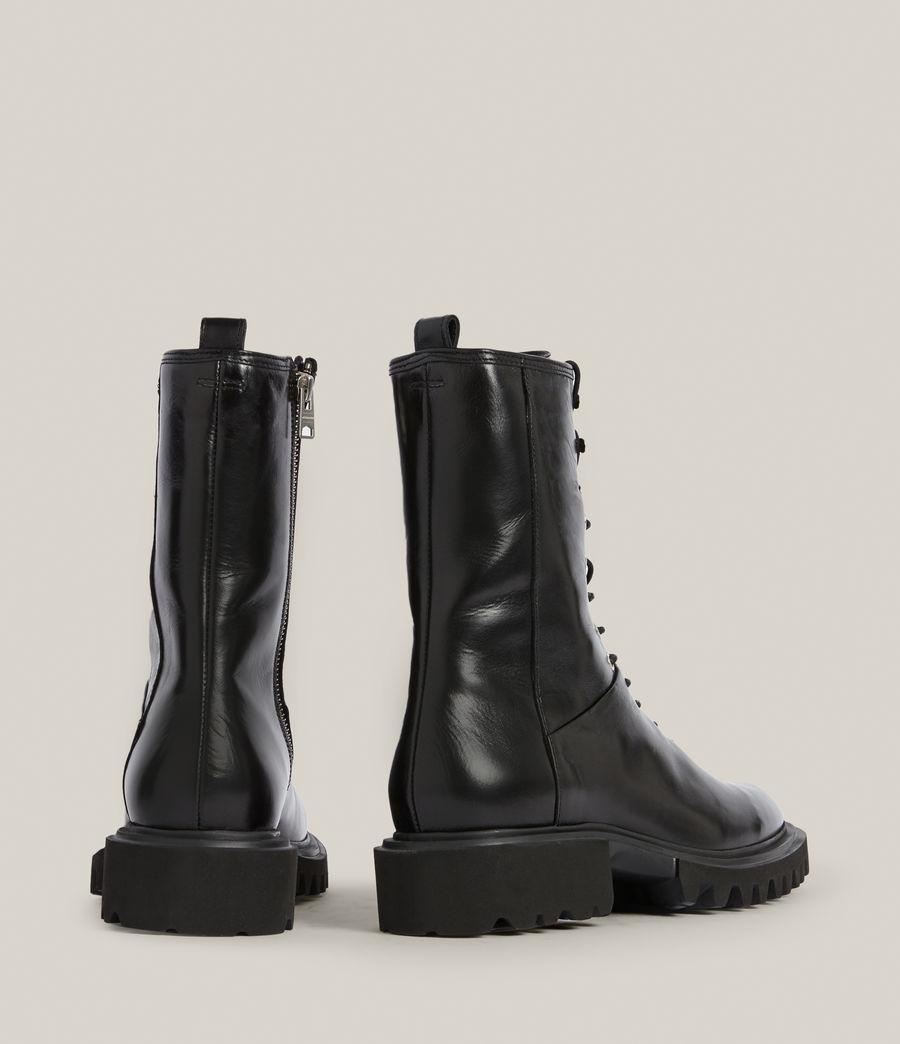 Women's Maren Leather Boots (black) - Image 6