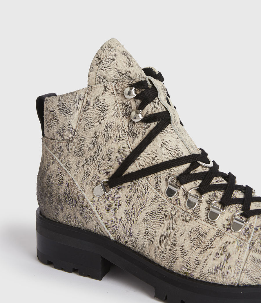 Women's Lia Leather Boots (leopard) - Image 4