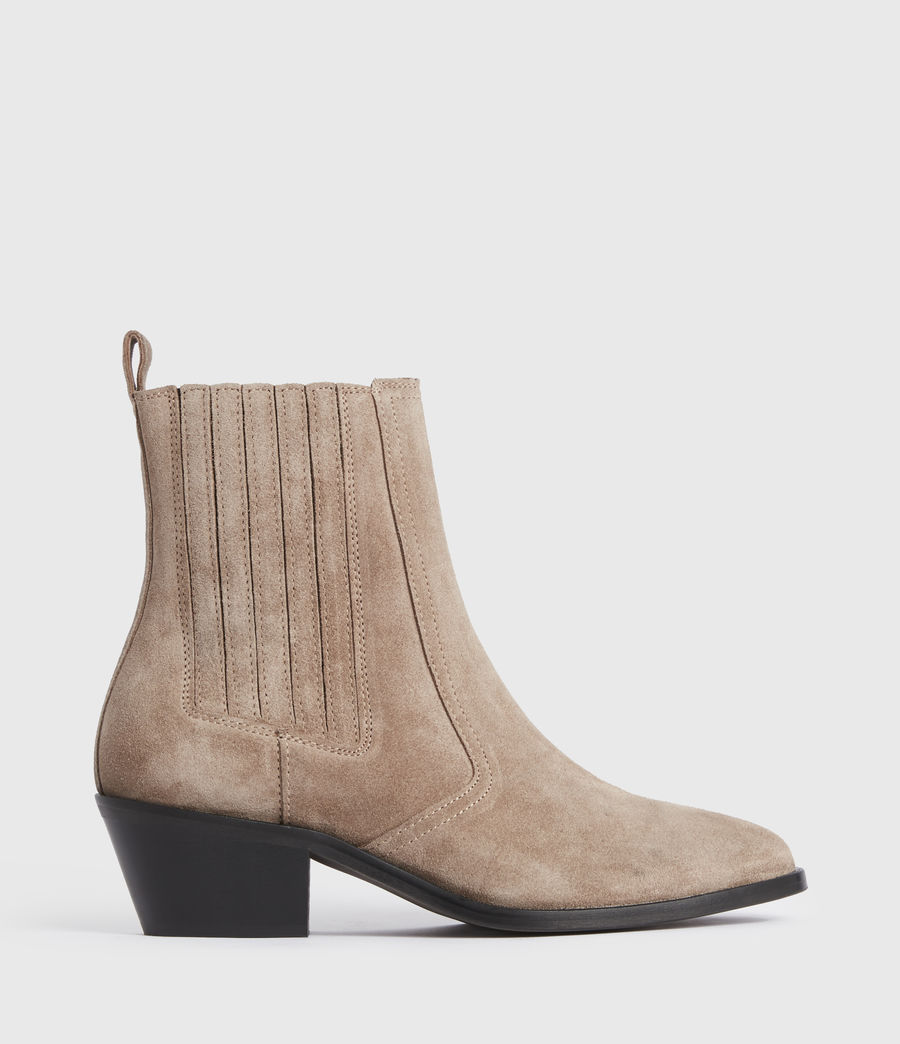 Mujer Miriam Suede Boots (taupe) - Image 1