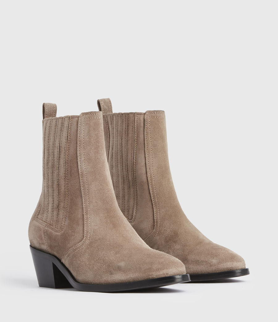 Mujer Miriam Suede Boots (taupe) - Image 3
