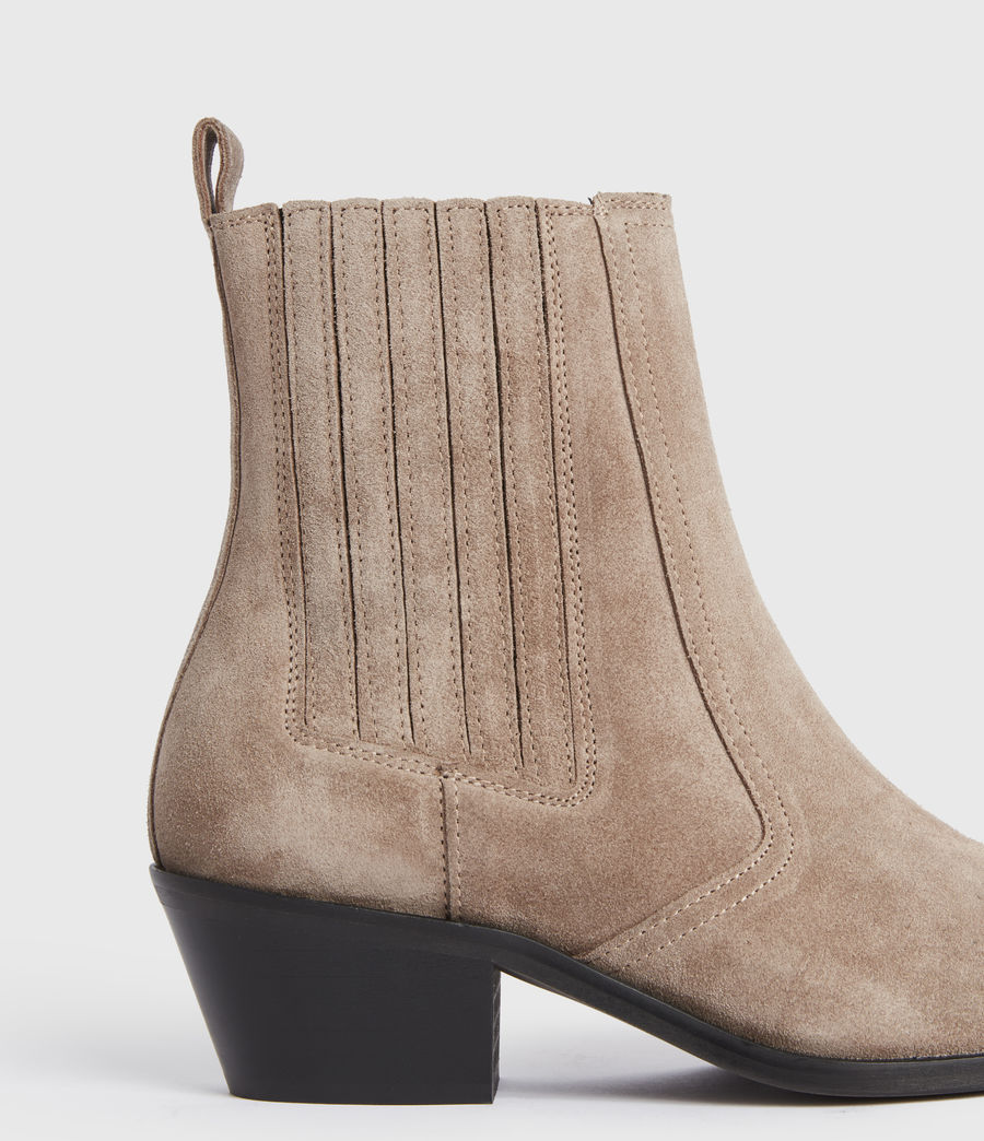 Mujer Miriam Suede Boots (taupe) - Image 4