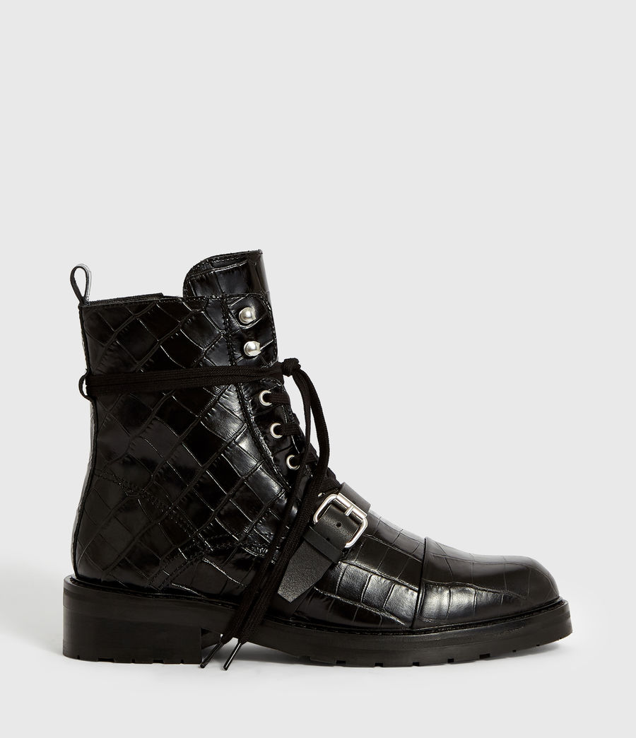Women's Donita Crocodile Boot (black_croc) - Image 1
