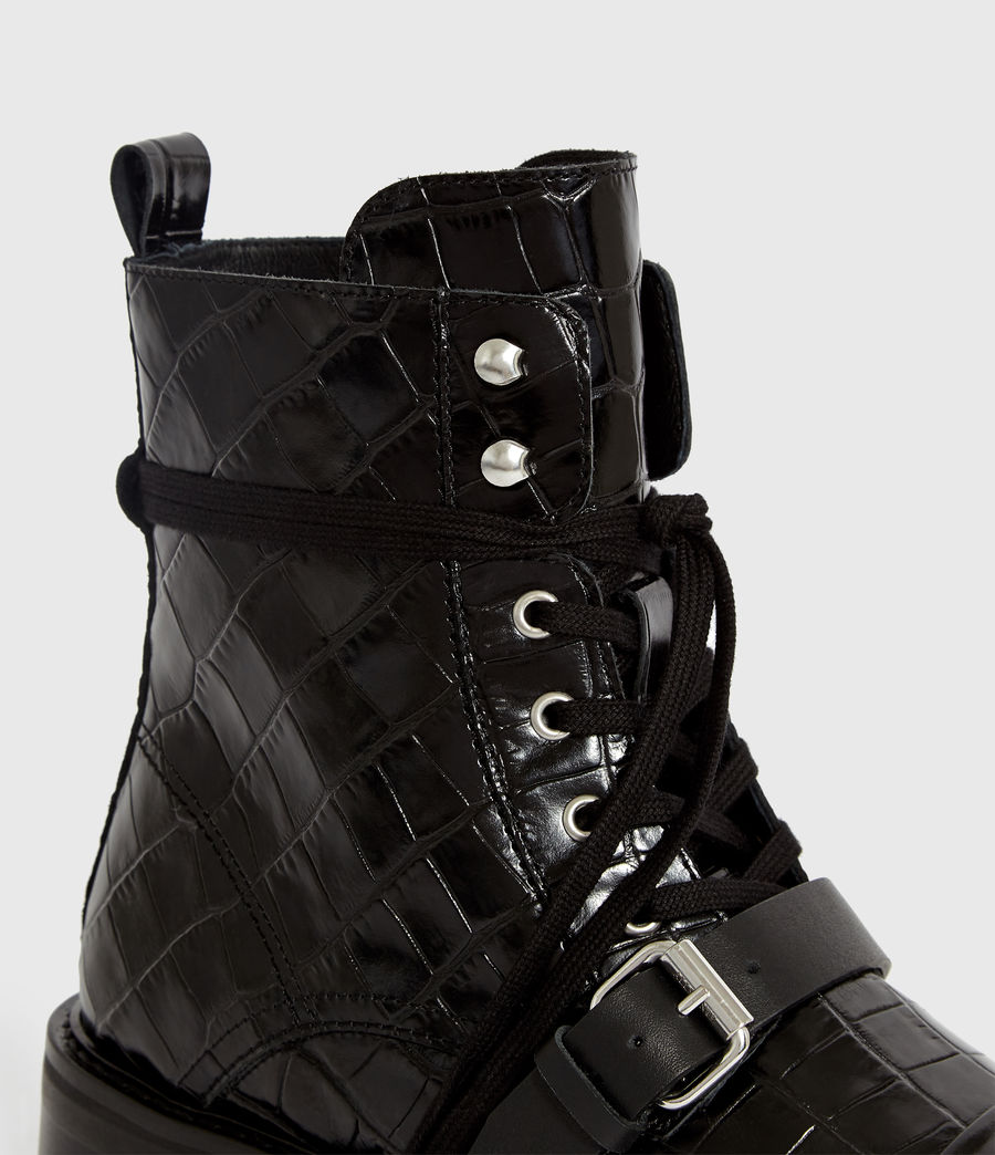 Women's Donita Crocodile Boot (black_croc) - Image 2