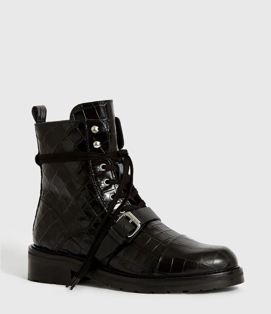 Women's Donita Crocodile Boot (black_croc) - Image 3