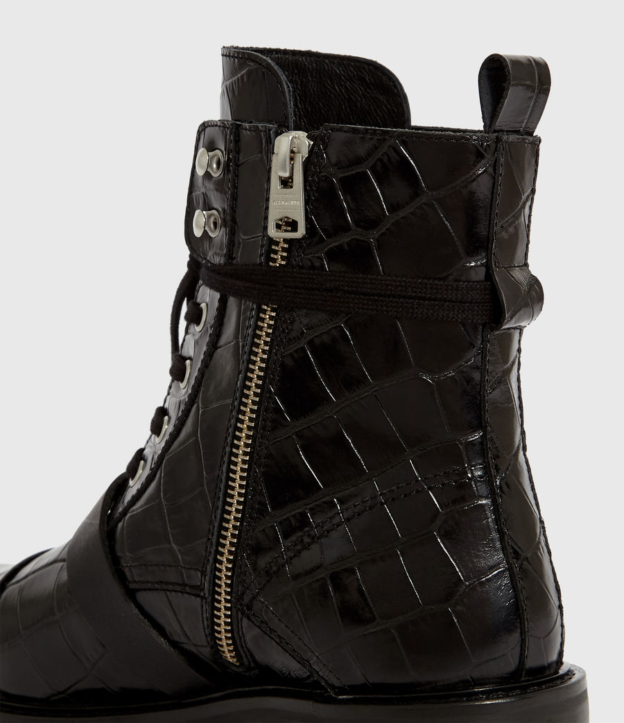 Women's Donita Crocodile Boot (black_croc) - Image 6