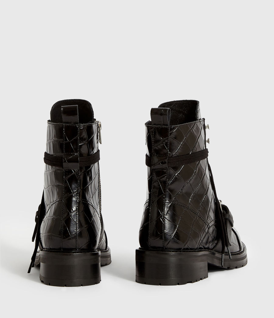 Women's Donita Crocodile Boot (black_croc) - Image 7