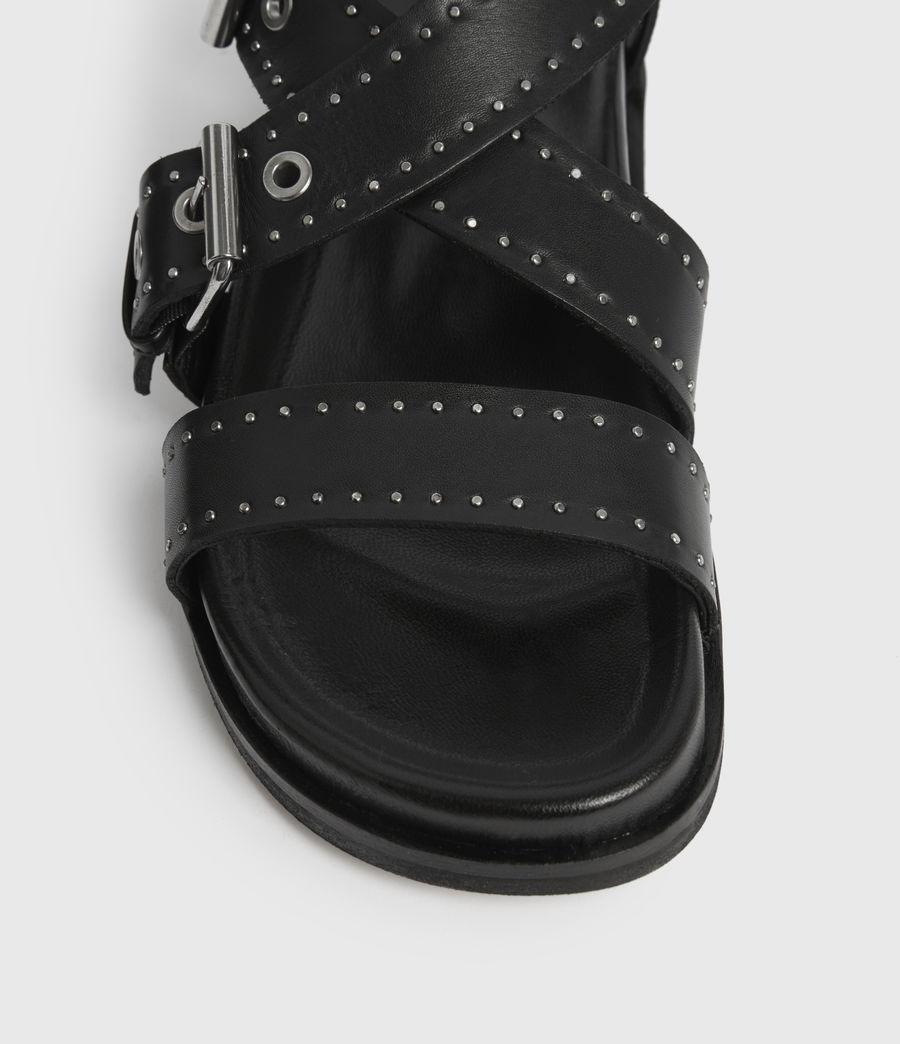 Women's Nina Leather Sandals (black) - Image 4