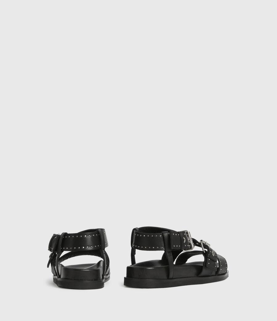 Women's Nina Leather Sandals (black) - Image 5