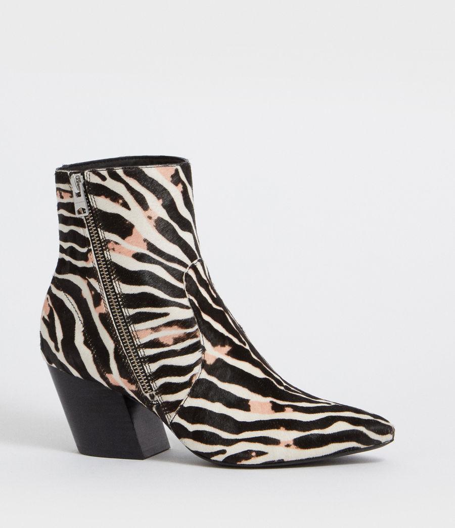 Womens Aster Zebra Boot (black_white) - Image 2
