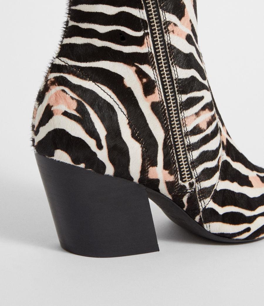 Womens Aster Zebra Boot (black_white) - Image 3