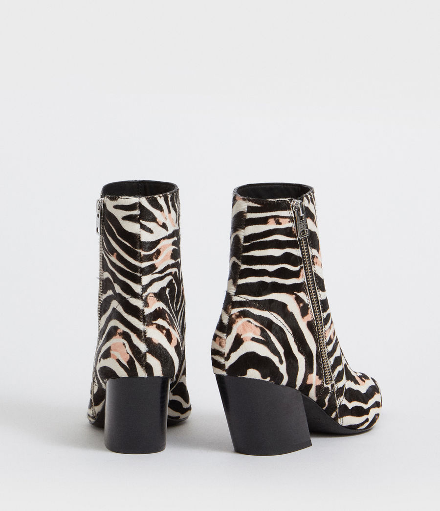 Womens Aster Zebra Boot (black_white) - Image 5