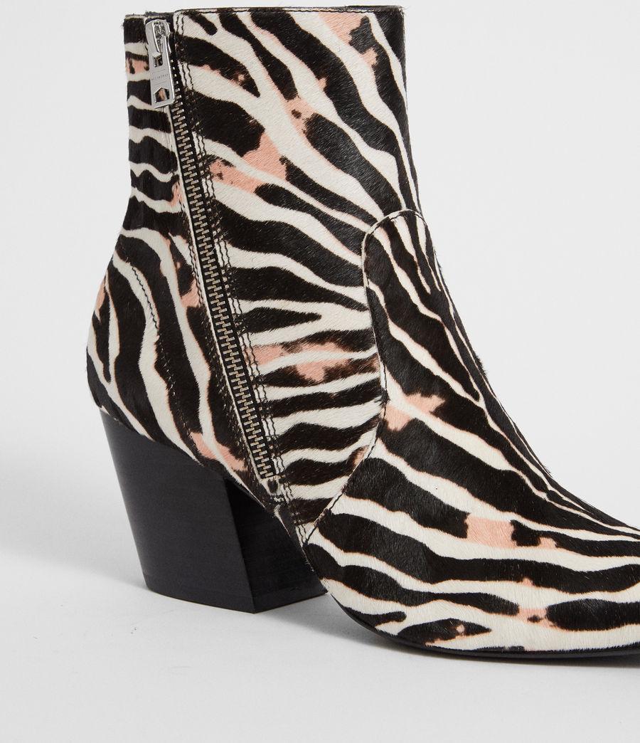 Womens Aster Zebra Boot (black_white) - Image 6