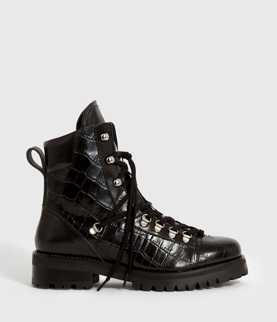 Women's Franka Crocodile Boot (black_croc) - Image 1