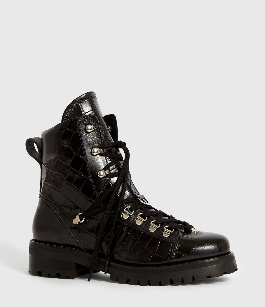 Women's Franka Crocodile Boot (black_croc) - Image 3