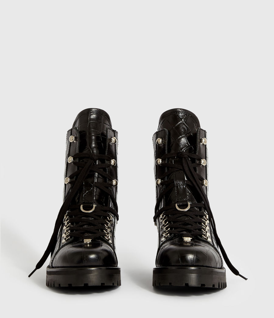 Women's Franka Crocodile Boot (black_croc) - Image 5