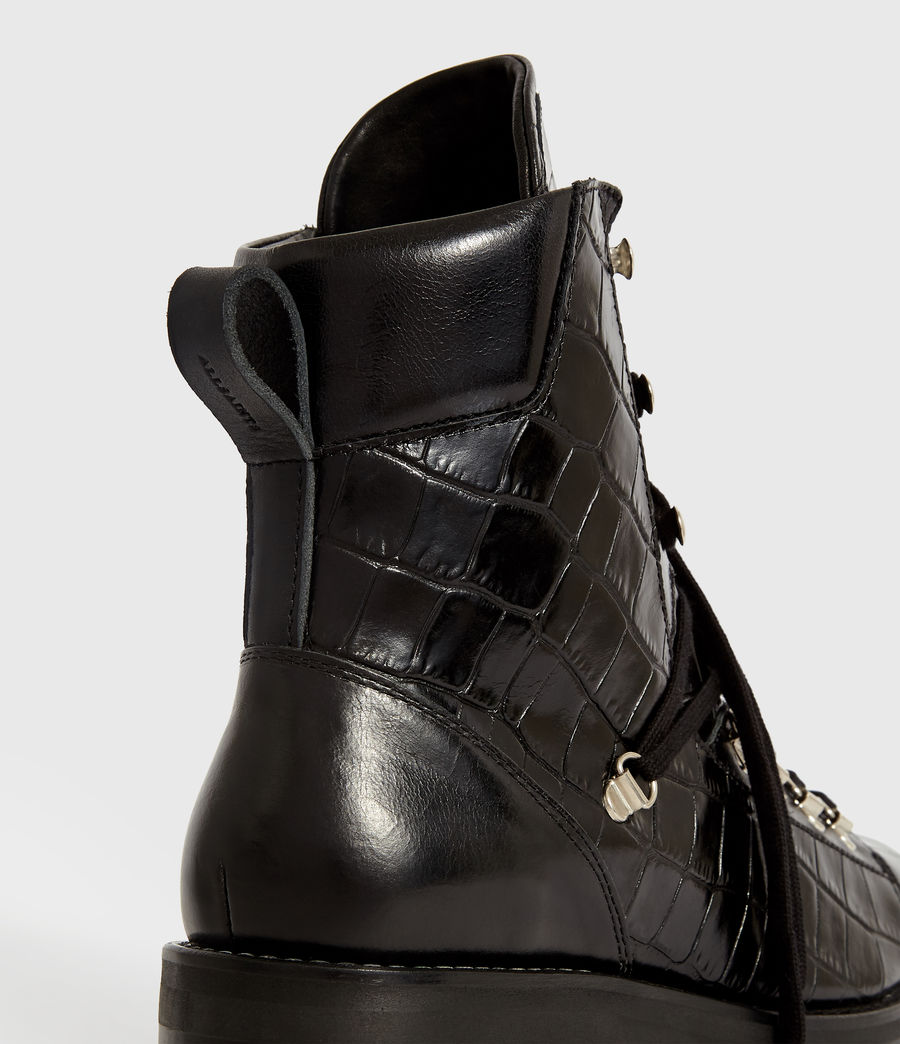 Women's Franka Crocodile Boot (black_croc) - Image 6