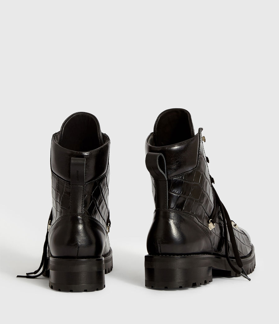 Women's Franka Crocodile Boot (black_croc) - Image 7