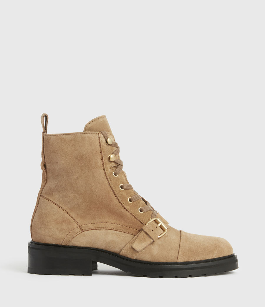 Womens Donita Suede Boots (dark_sand) - Image 1