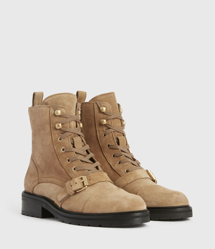 Womens Donita Suede Boots (dark_sand) - Image 3