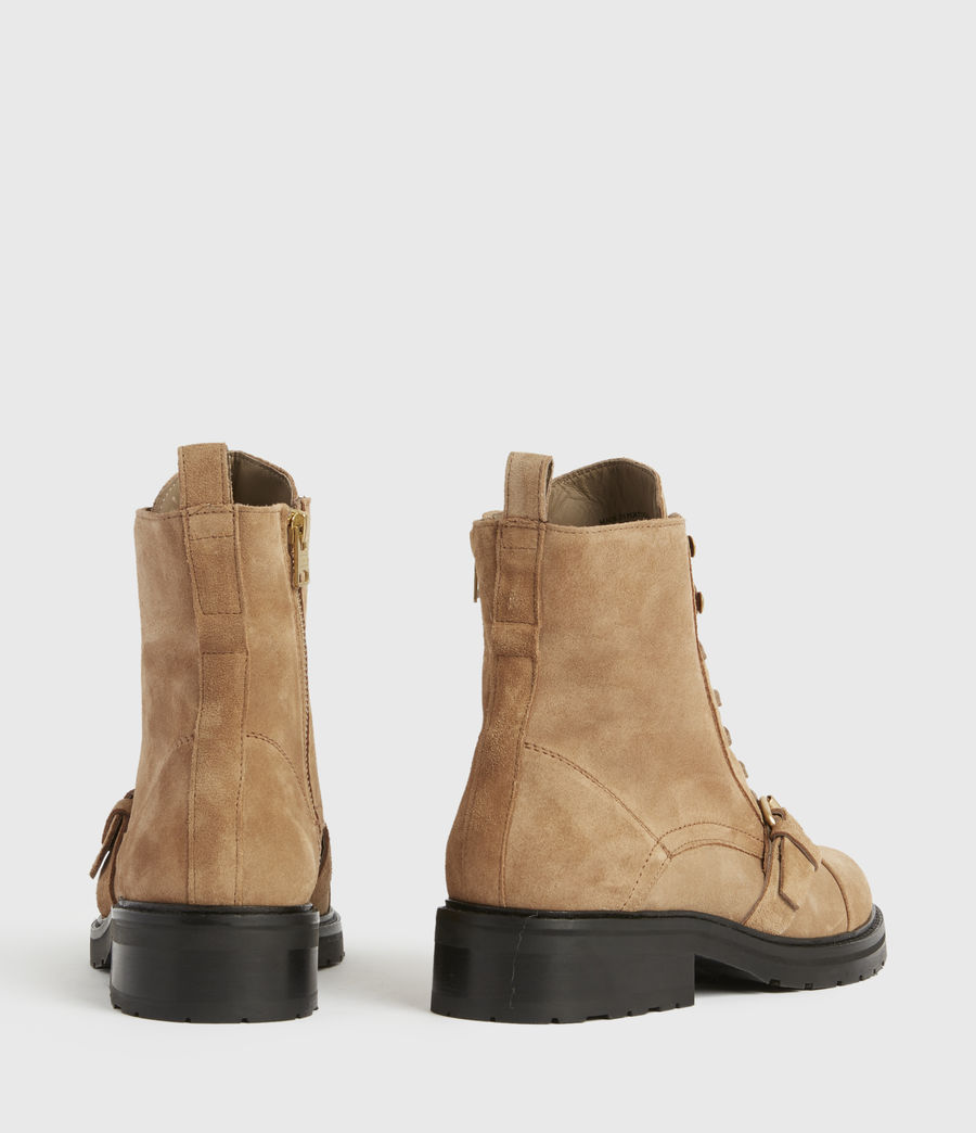 Womens Donita Suede Boots (dark_sand) - Image 5