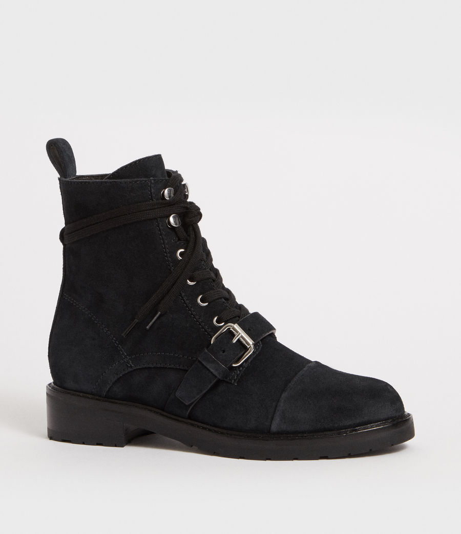 Women's Donita Suede Boot (gunmetal_grey) - Image 2