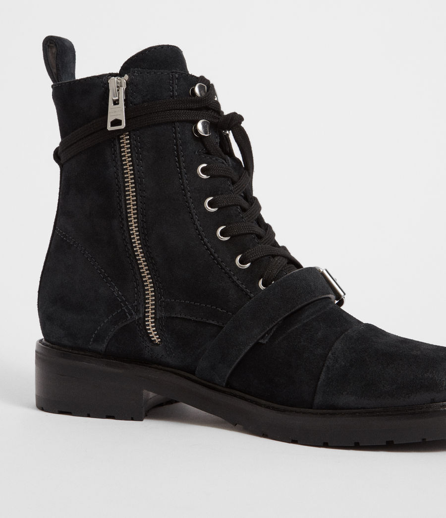 Women's Donita Suede Boot (gunmetal_grey) - Image 6
