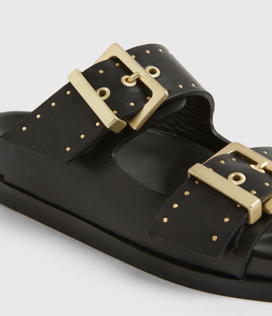 Women's Mae Leather Sandals (black) - Image 5