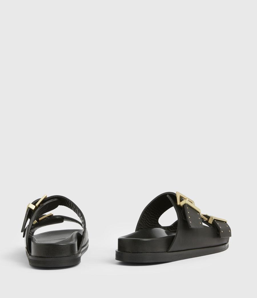 Women's Mae Leather Sandals (black) - Image 6