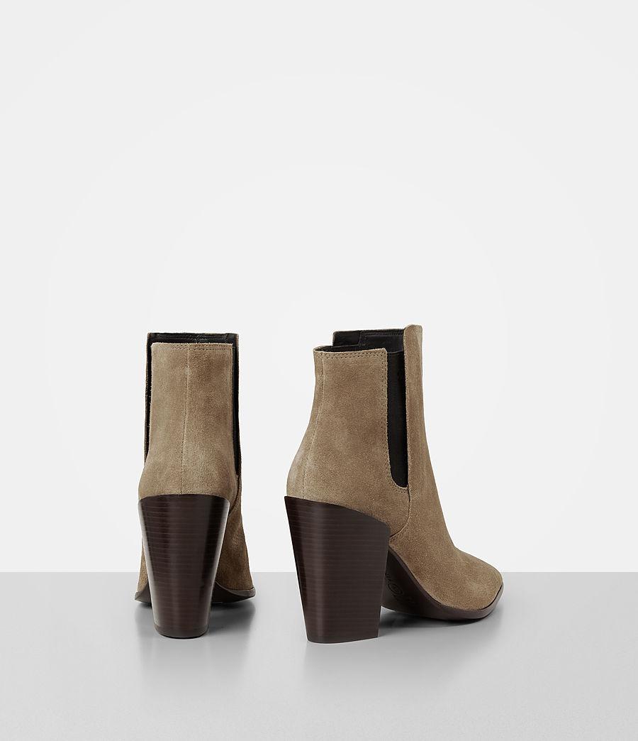 Femmes Bottes Senta en cuir velours (mustard) - Image 5