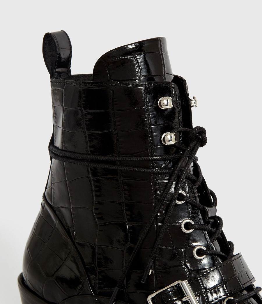 Women's Katy Crocodile Boot (black_croc) - Image 2