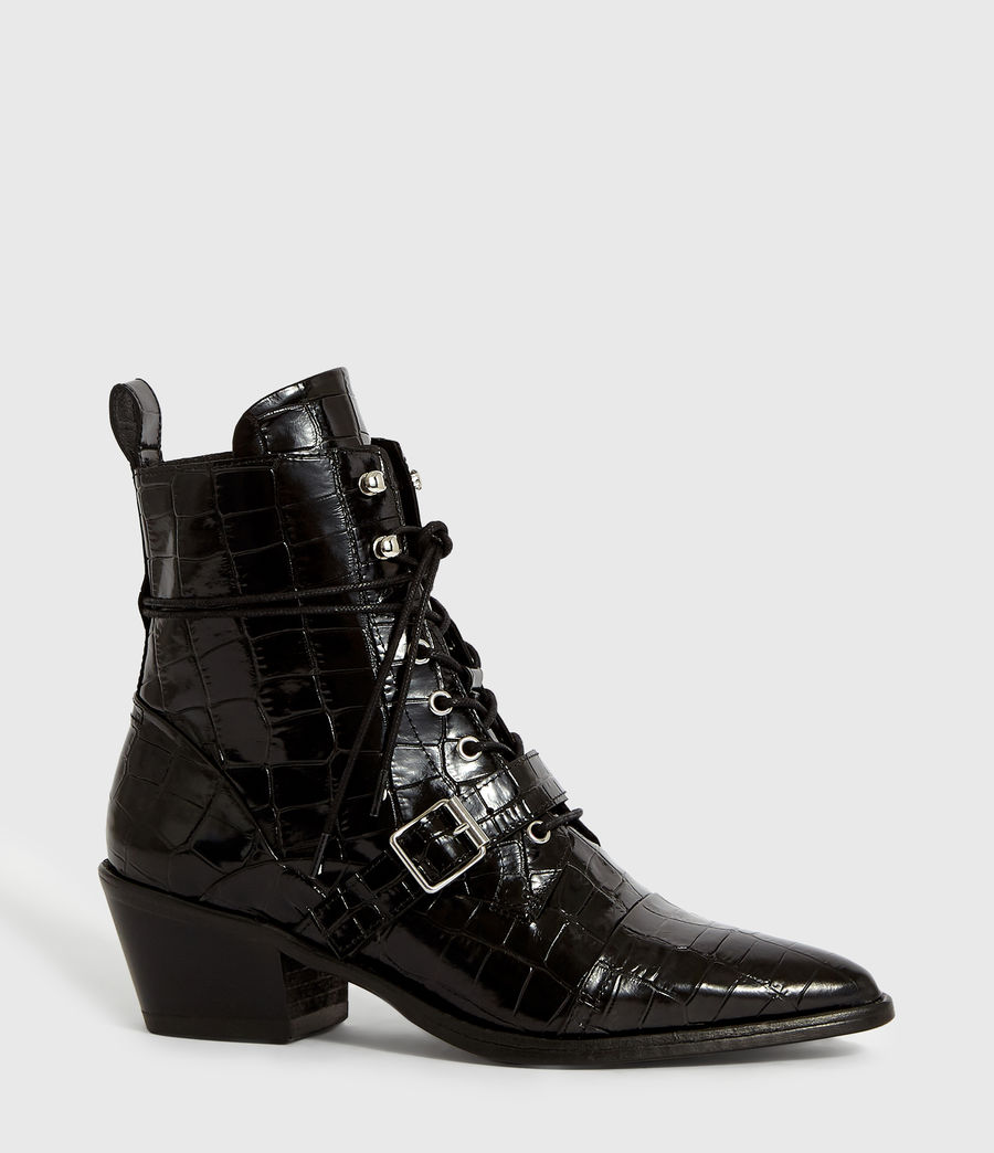 Women's Katy Crocodile Boot (black_croc) - Image 3
