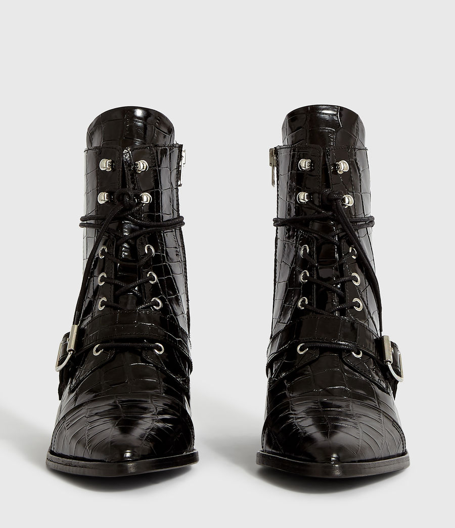 Women's Katy Crocodile Boot (black_croc) - Image 5