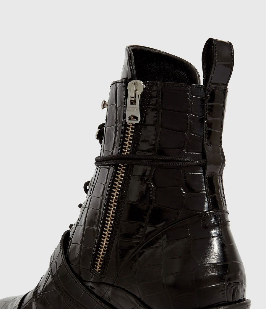 Women's Katy Crocodile Boot (black_croc) - Image 6